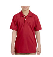Custom Harriton Youth Easy Blend™ Polo