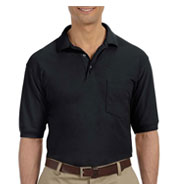 Custom Harriton Mens 5.6 oz. Easy Blend™ Polo with Pocket