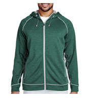 Custom Team 365 Mens Excel Melange Performance Fleece Jacket