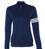 Custom Adidas Womens 3-Stripes French Terry Full-Zip Jacket