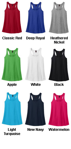 Ladies Solid Gathered Racerback Tank - All Colors