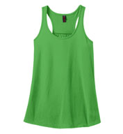 Ladies Solid Gathered Racerback Tank