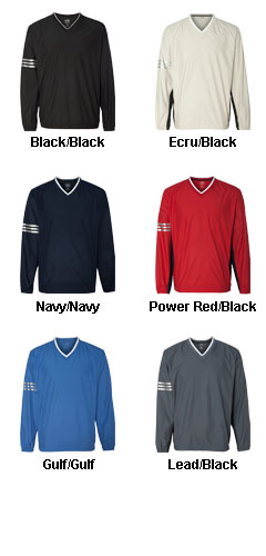Adidas Golf Mens ClimaLite® Color Block V-Neck Windshirt - All Colors
