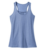 Ladies Mini Stripe Gathered Racerback Tank