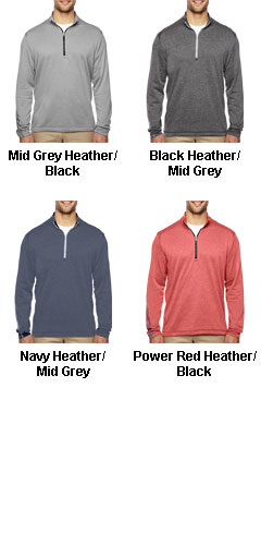 Adidas Golf Brushed Terry Heather Quarter-Zip - All Colors