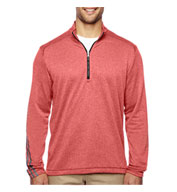 Custom Adidas Golf Mens Brushed Terry Heather Quarter-Zip