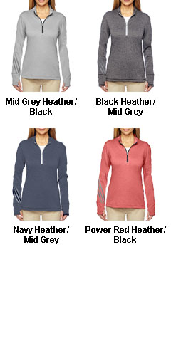 Adidas Golf Ladies Brushed Terry Heather Quarter-Zip - All Colors