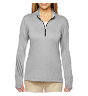 Adidas Golf Ladies Brushed Terry Heather Quarter-Zip