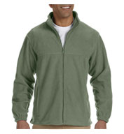 Custom Harriton Mens Tall Full-Zip Fleece Jacket