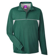 Custom Team 365 Mens Excel Melange Interlock Performane Quarter-Zip Top