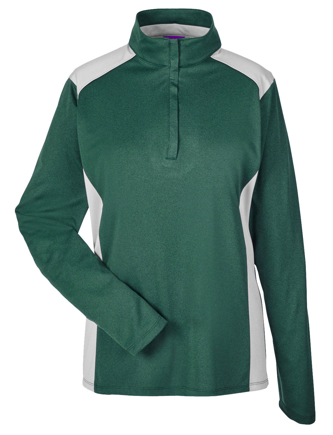 Team 365 Ladies Excel Melange Interlock  Performance Quarter-Zip Top