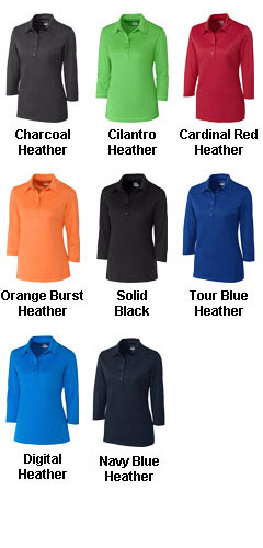 Ladies CB DryTec™ 3/4 Sleeve Chelan Polo - All Colors