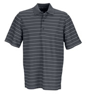 Custom Greg Norman Mens Play Dry Performance Striped Mesh Polo