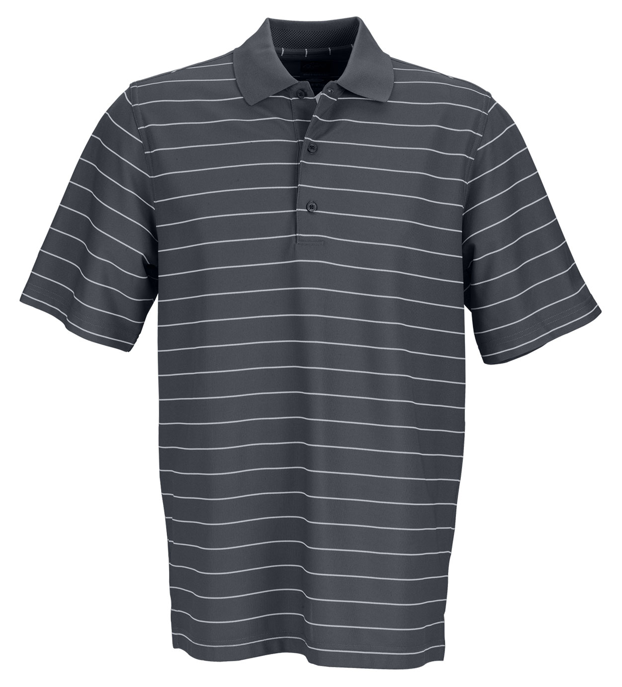 Greg Norman Mens Play Dry Performance Striped Mesh Polo