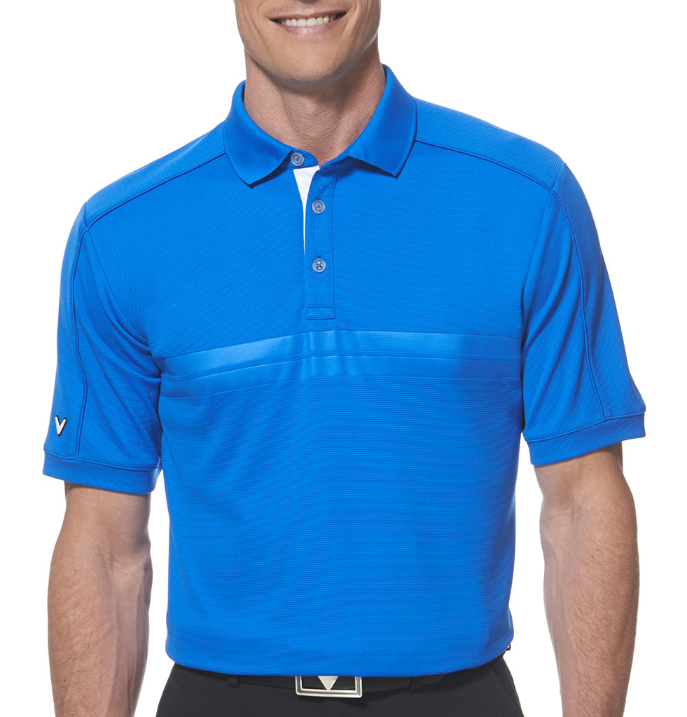 Callaway Mens Embossed Athletic Polo