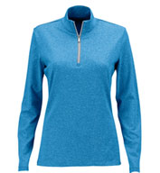 Custom Greg Norman Womens Heathered 1/2-Zip
