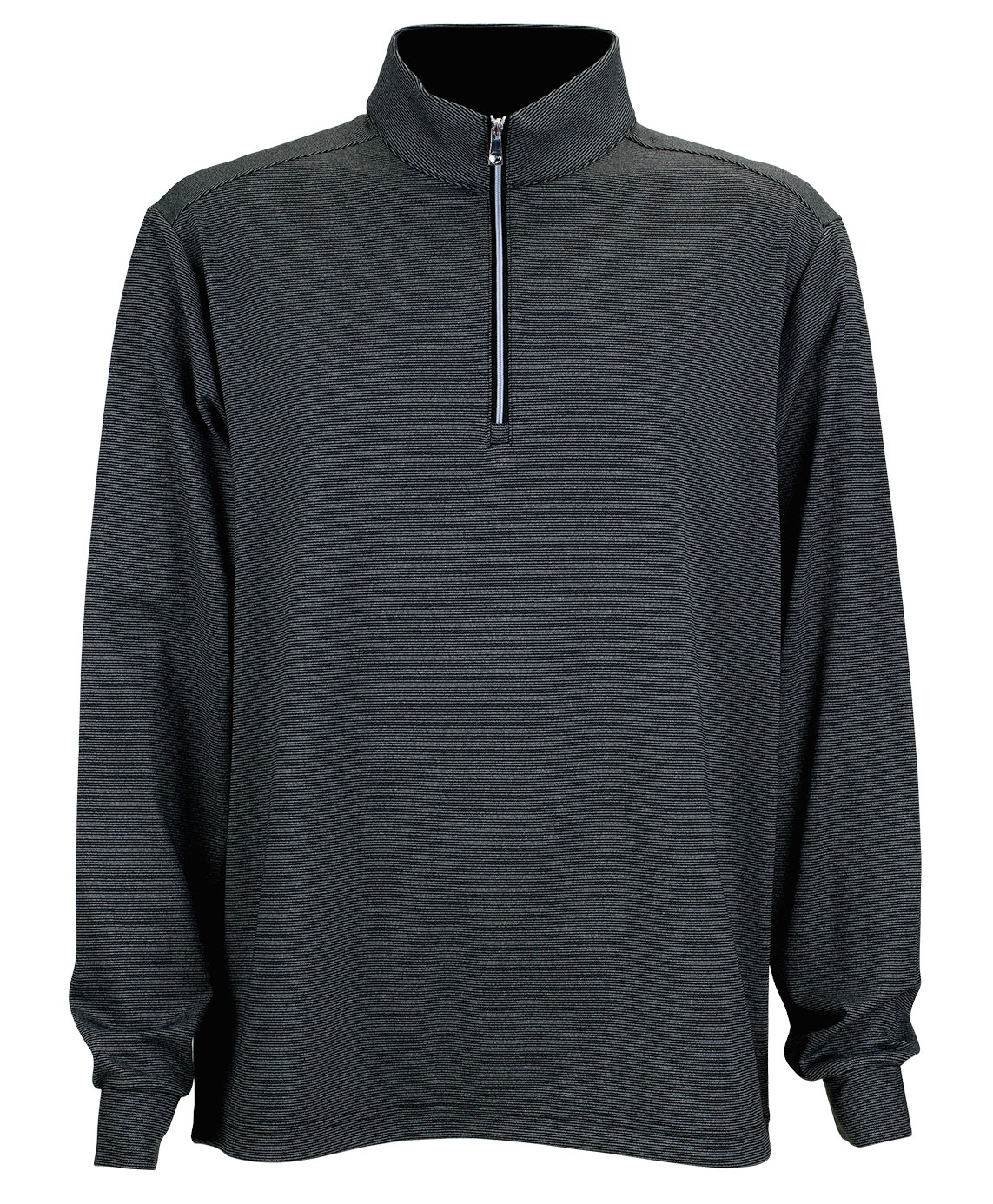 Greg Norman Mens Heathered Stripe 1/4-Zip Pullover
