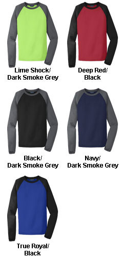 Sport-Tek® Raglan Colorblock Fleece Crewneck - All Colors