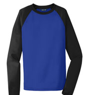 Custom Sport-Tek® Raglan Colorblock Mens Fleece Crewneck