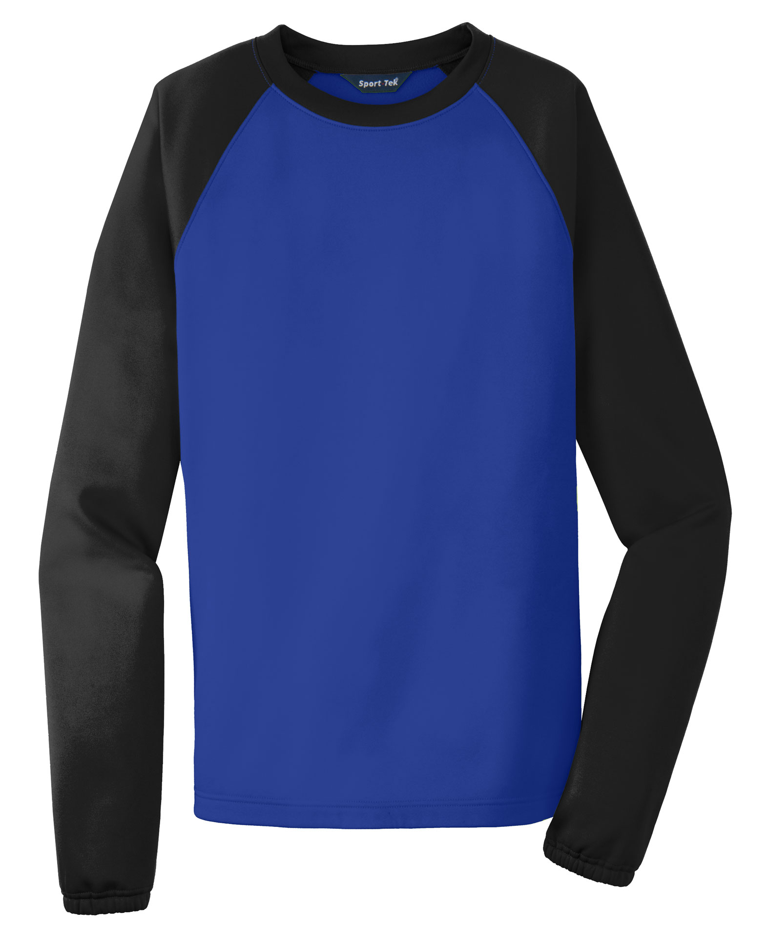 Sport-Tek® Raglan Colorblock Mens Fleece Crewneck