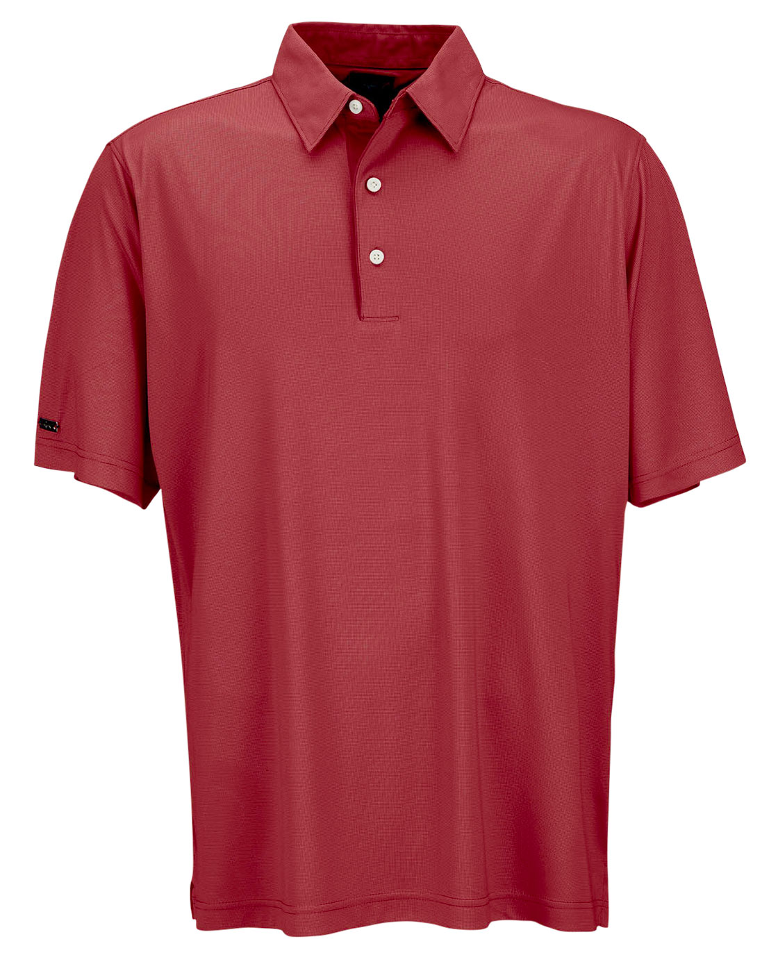 Greg Norman Mens Play Dry ML75 Nailhead Jacquard Polo