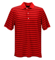 Custom Greg Norman Mens Play Dry Aerated Weatherknit Stripe Polo