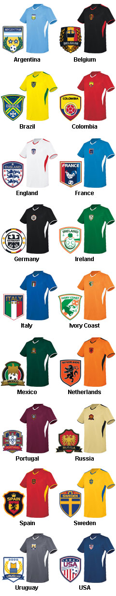 Adult Globe International Soccer Jersey - All Colors