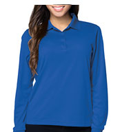 Custom Lady Vital Long Sleeve Polo