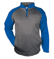 Custom Badger Mens Sport Heather Fleece 1/4 Zip