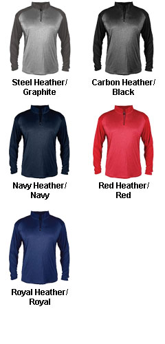 Mens Pro Heather Sport 1/4 Zip - All Colors