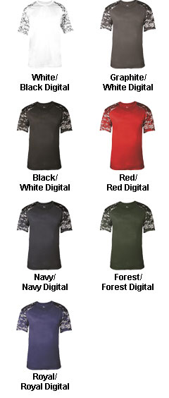 Mens Digital Fitted Sport Tee - All Colors