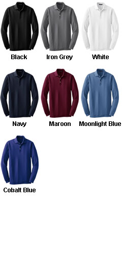 Tall Long Sleeve EZCotton™ Pique Polo - All Colors
