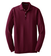 Custom Tall Long Sleeve EZCotton™ Pique Polo