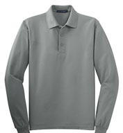 Custom Port Authority Mens Tall Silk Touch™ Long Sleeve Polo