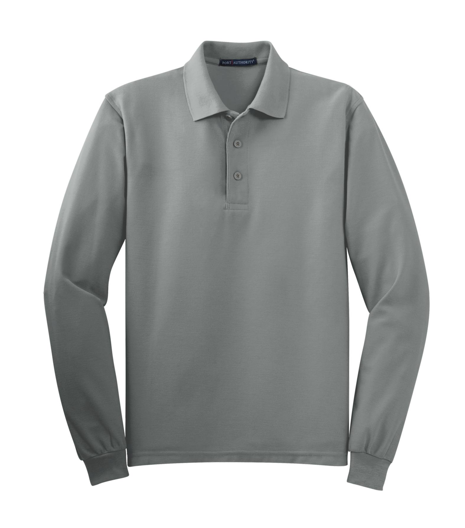 Port Authority Mens Tall Silk Touch™ Long Sleeve Polo