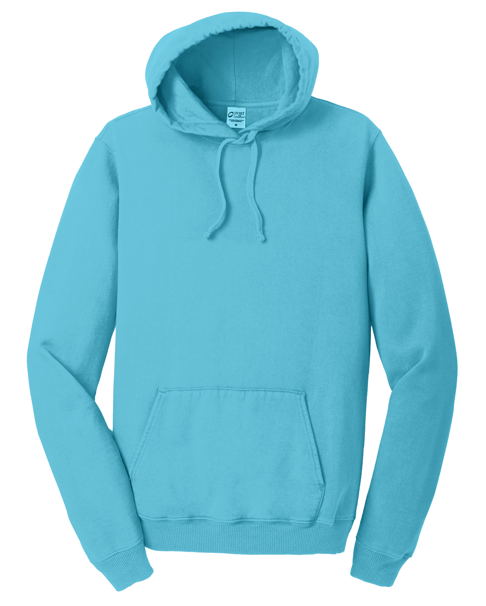 Mens Essential Pigment-Dyed Pullover Hooded Sweatshirt
