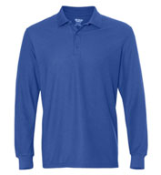 Custom Gildan DryBlend Double Pique Long Sleeve Adult Sport Shirt