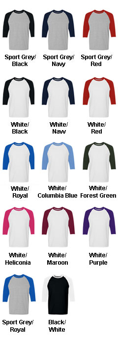 Adult Heavy Cotton Three-Quarter Raglan - All Colors