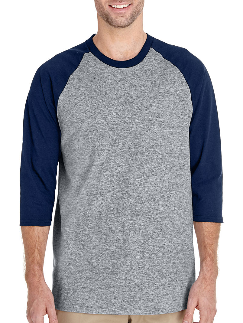 Adult Heavy Cotton Three-Quarter Raglan