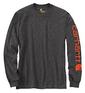 Custom Carhartt Signature Sleeve Logo Long-Sleeve T-Shirt