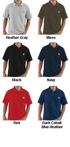 Mens Carhartt Contractors Work Pocket Polo - All Colors