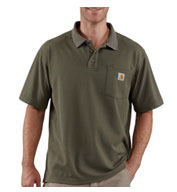 Custom Mens Carhartt Contractors Work Pocket Polo