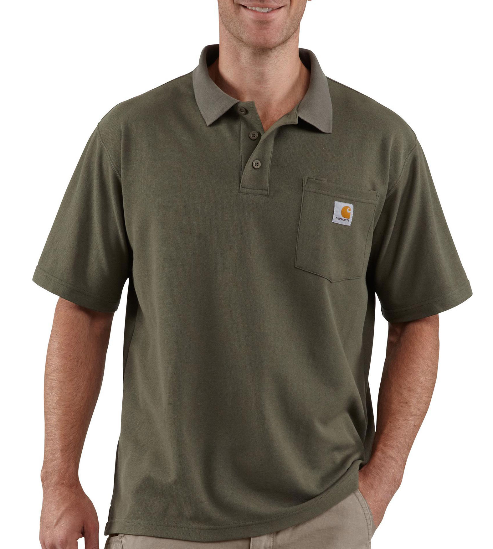 Mens Carhartt Contractors Work Pocket Polo