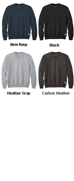 Carhartt Mens Midweight Crewneck Sweatshirt - All Colors