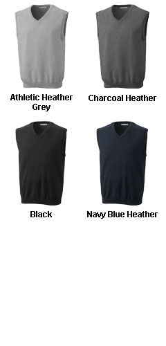 Big and Tall Mens Broadview V-neck Sweater Vest - All Colors