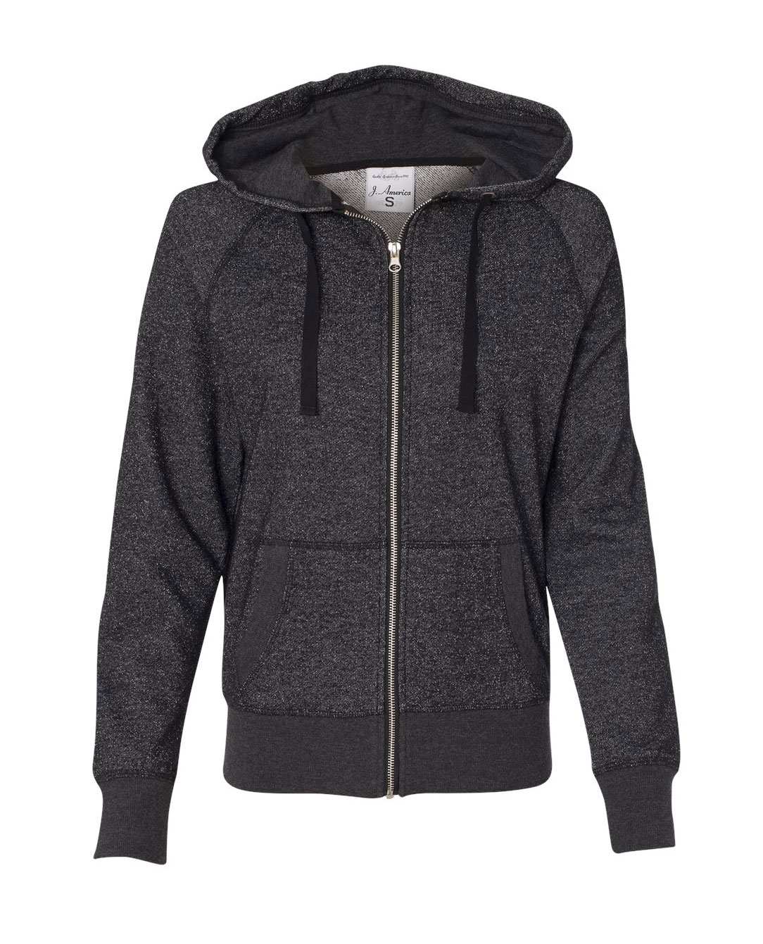 Ladies Glitter Hooded Full-Zip Sweatshirt