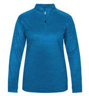 Custom Badger Ladies Tonal Blend 1/4 Zip  Pullover