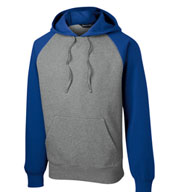 Custom Sport-Tek Adult Raglan Colorblock Pullover Hooded Sweatshirt