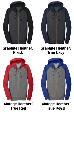 Raglan Colorblock Full-Zip Hooded Jacket - All Colors