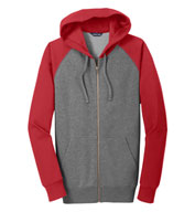 Custom Adult Raglan Colorblock Full-Zip Hooded Jacket